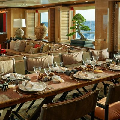 April Yacht Main Salon Dining