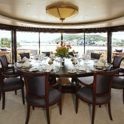 Freedom Yacht Master Dining Area