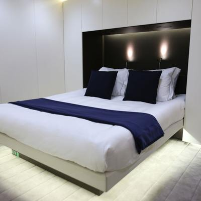 Ocean Sapphire Yacht Blue Guest Stateroom