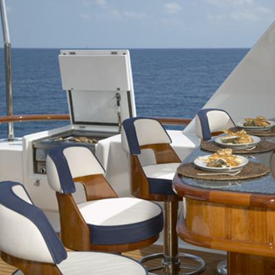 Teleost Yacht Upper Deck Bar