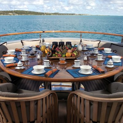 Silver Dream Yacht Deck Dining