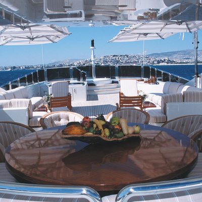 Alexandra Yacht Sundeck Dining
