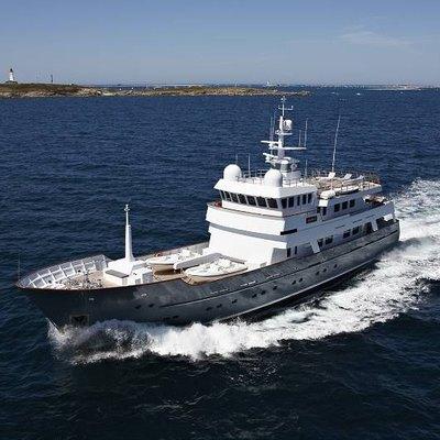 Axantha II Yacht Running Shot