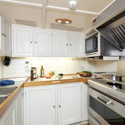 Shamrock V Yacht Galley