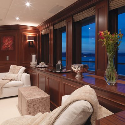 My Little Violet Yacht Upper Salon - Evening