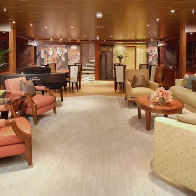 Perle Bleue Yacht Main Saloon Aft