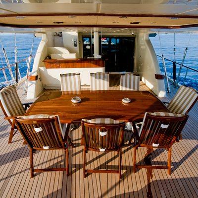 Daima Yacht Aft Deck