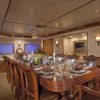 Golden Compass Yacht Dining Room