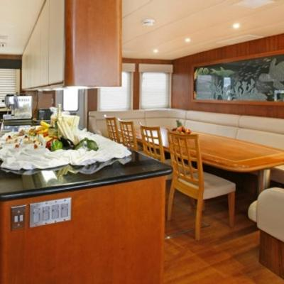 Daydream Yacht Dining Table & Galley