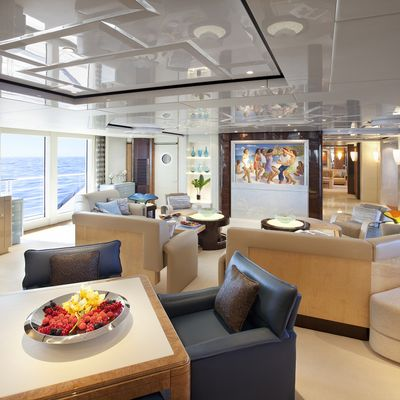 Sycara V Yacht Main Salon - Looking Forward