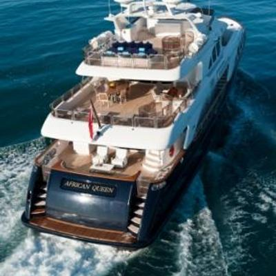 African Queen Yacht Aerial View