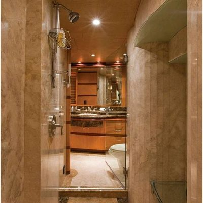 Chosen One Yacht Master Stateroom into Bathroom