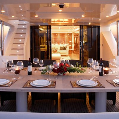 Dragon Yacht Exterior Dining Table