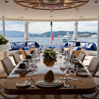 Lou Spirit Yacht Aft Dining