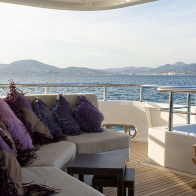 My Little Violet Yacht Exterior Seating