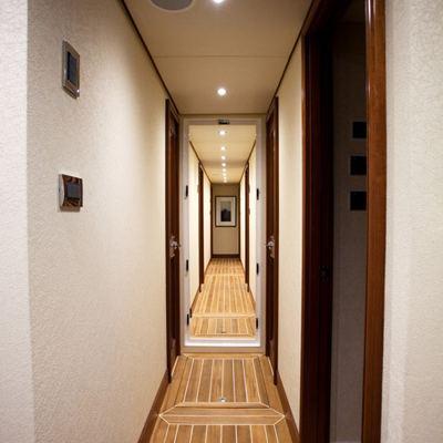 Liquidity Yacht Hallway