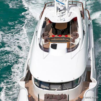 Liberty Yacht Aerial View - Decks