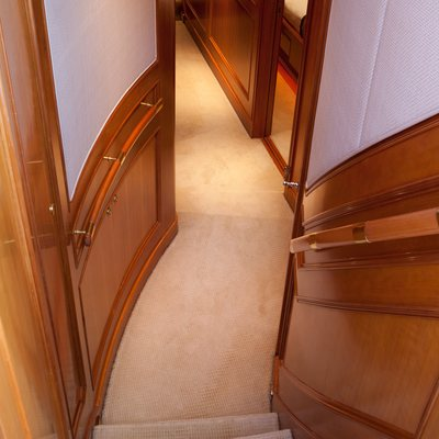 Genevieve Yacht Stairwell to Cabins
