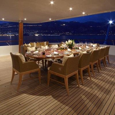 Lady Britt Yacht Al Fresco Dining