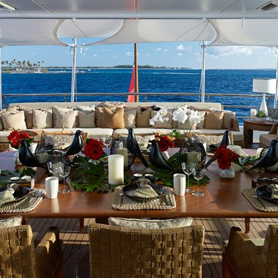 April Yacht Upper Deck Dining Aft