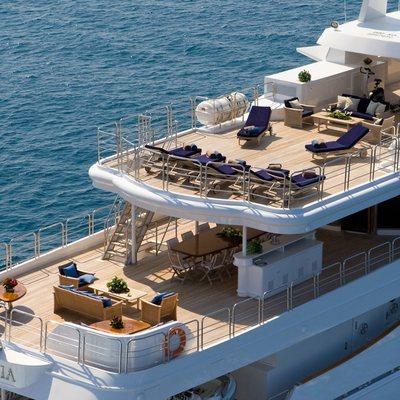 Insignia Yacht Aerial View - Decks