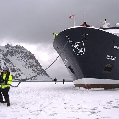 Hanse Explorer Yacht Moored in Ice