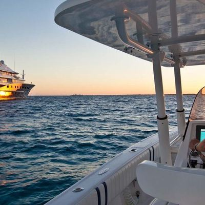 Aquila Yacht View from Tender