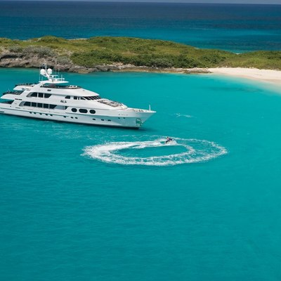 Lady Joy Yacht Aerial View