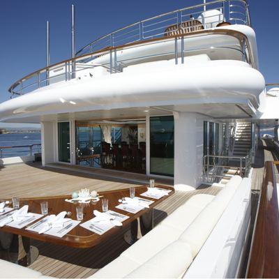 Pegasus VIII Yacht Sundeck Seating