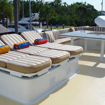 Le Montrachet Yacht Sundeck Loungers