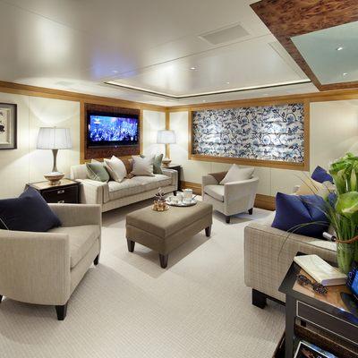 Lady Britt Yacht Aft Guest Salon