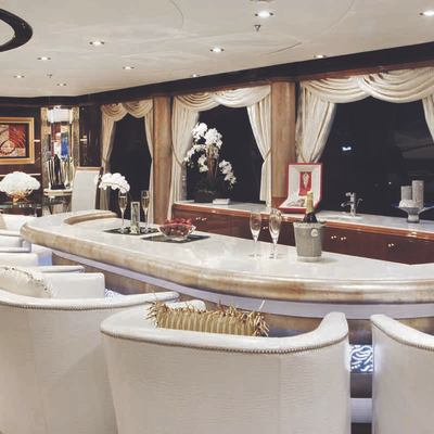 Diamonds Are Forever Yacht Upper Salon Bar