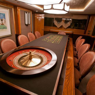 Il Sole Yacht Dining converted to roulette table