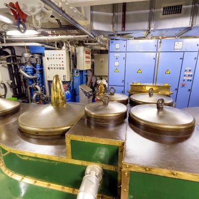 SS Delphine Yacht Engine Room