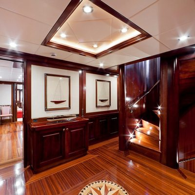 Sophie Blue Yacht Foyer & Stairs