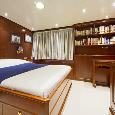 Axantha II Yacht Queen Stateroom