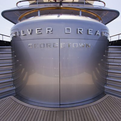 Silver Dream Yacht Detail - Nameplate