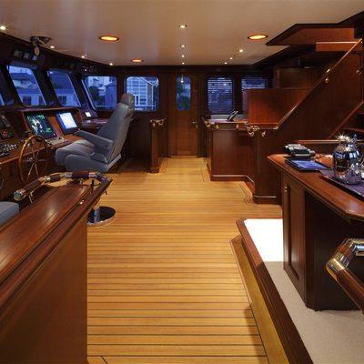Axantha II Yacht PIlothouse