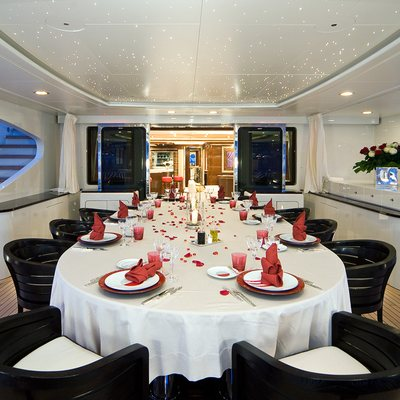 Latitude Yacht Upper Aft Deck Dining