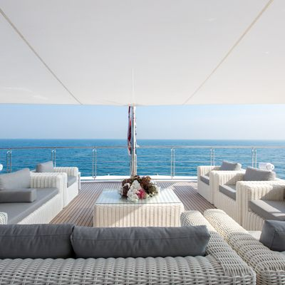 Moonlight II Yacht Outside Seating Area
