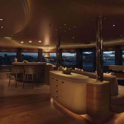 Naia Yacht Observation Lounge Bar - Night