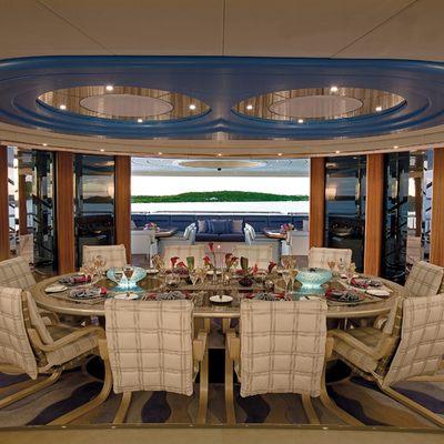Sycara V Yacht Dining Salon
