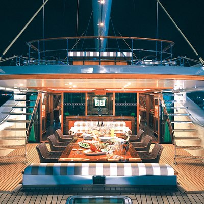 Tiara Yacht Deck - Night