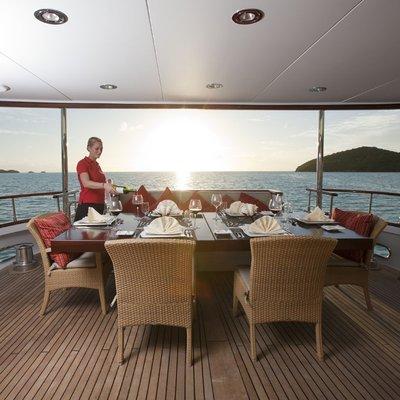 Parvati Yacht Aft Deck Dining