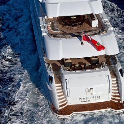 Manifiq Yacht Running Shot - Stern