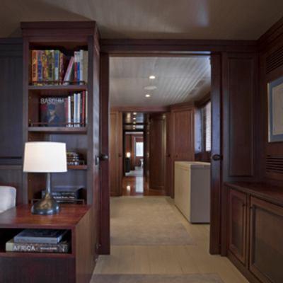 Cyan Yacht Hallway