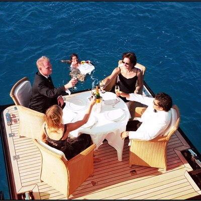 Parsifal III Yacht Swim Deck Dining