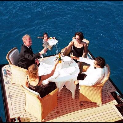 Parsifal III Yacht Swim Deck Dining