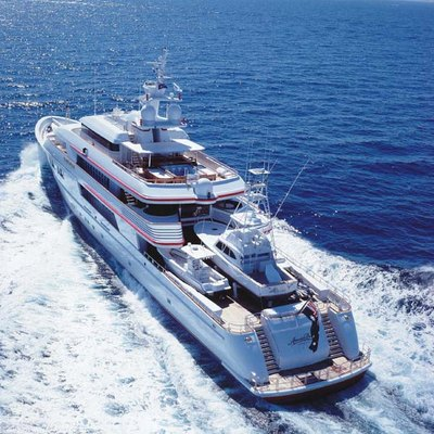 Nomad Yacht Running Shot - Aerial View