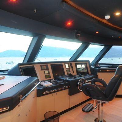 Michka V Yacht Pilothouse